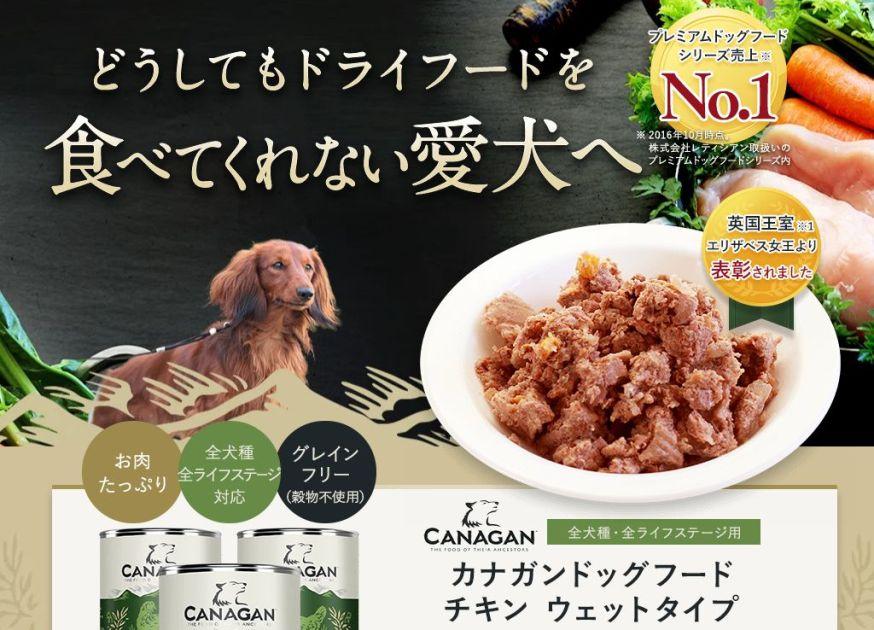 カナガンドッグフードチキン ウェットタイプは愛犬に評判の缶詰